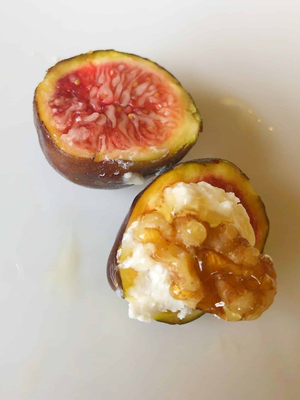 Chicago Hardy Fig Tree. Missouri Girl. Missouri Girl blog. Grow your own fig tree in the Midwest. Fig with Greek cream cheese, honey, and walnuts.