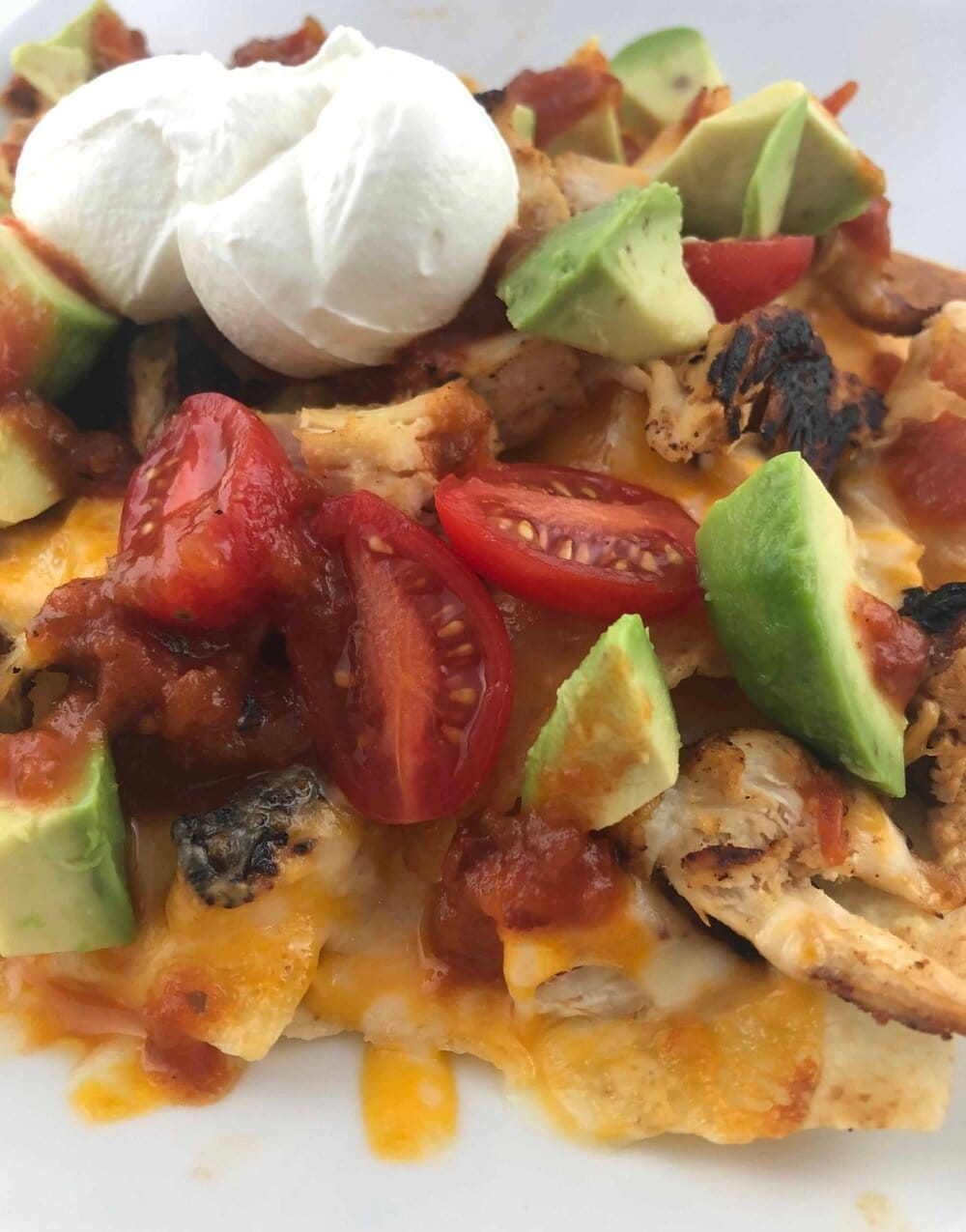 Missouri Girl Grilled Nachos with marinated grilled chicken. Missouri Girl Blog.