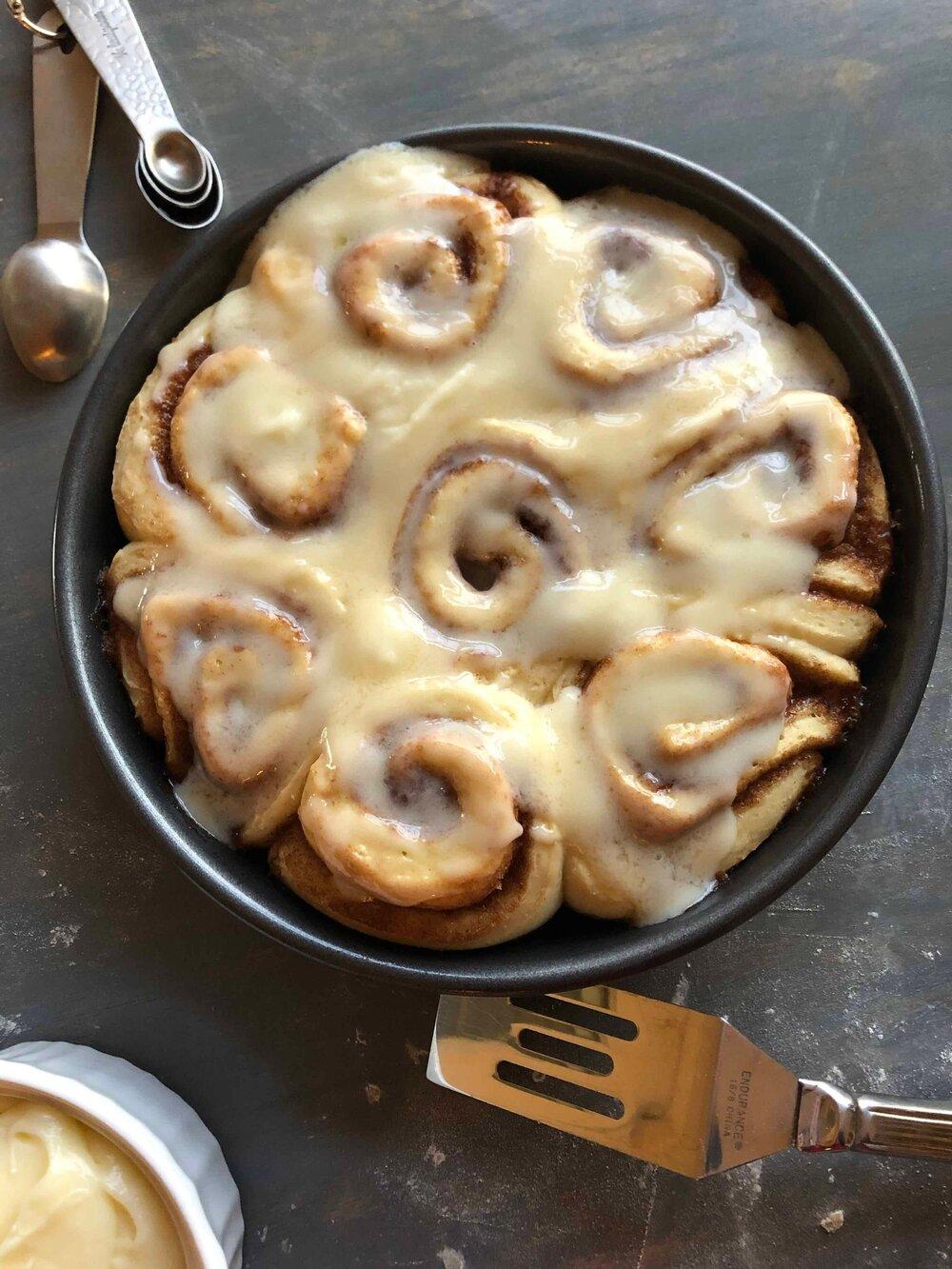 Missouri Girl Homemade Cinnamon Rolls with Vanilla Cream Icing. Missouri Girl Blog