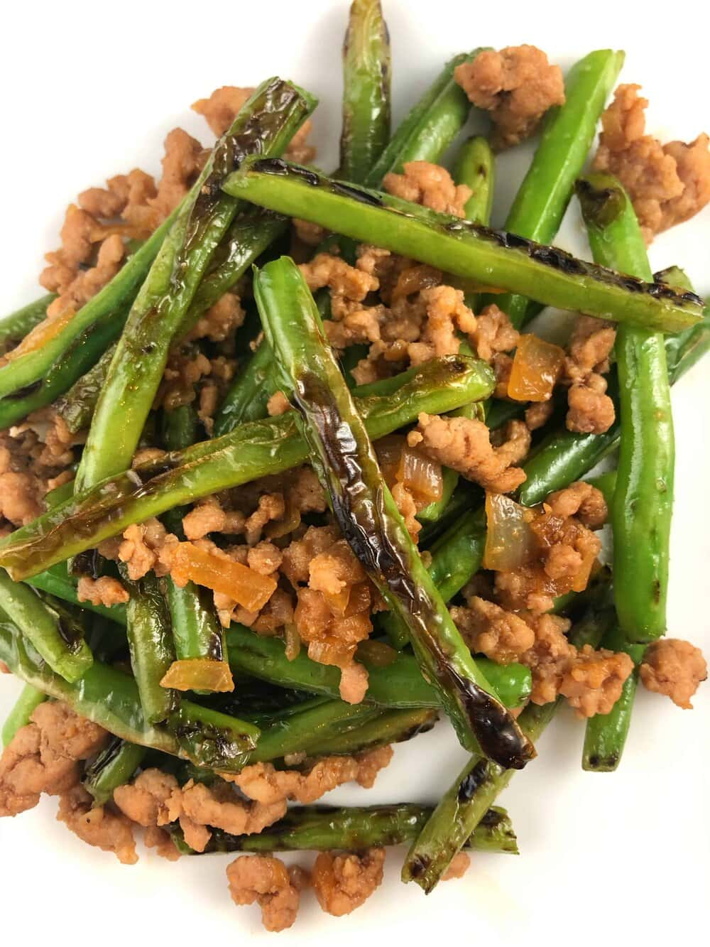 Missouri Girl Spicy Asian Pork with charred Green beans. Missouri Girl Blog