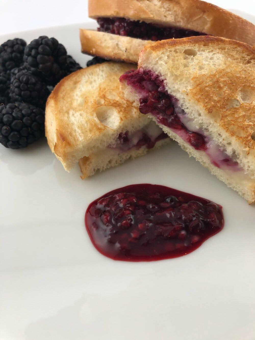 Missouri Girl Blackberry and Mozzarella Grilled Cheese Sandwich. Missouri Girl Blog