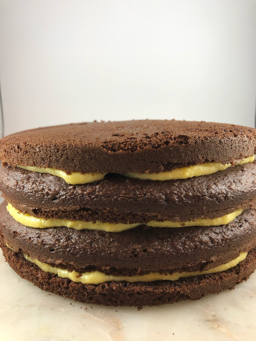 Holiday Celebration cake. Chocolate cake with vanilla butter custard and Italian buttercream. #holidaycake #Christmasdessert #fancycake #Missourigirl #Missourigirlblog #chocolatecake