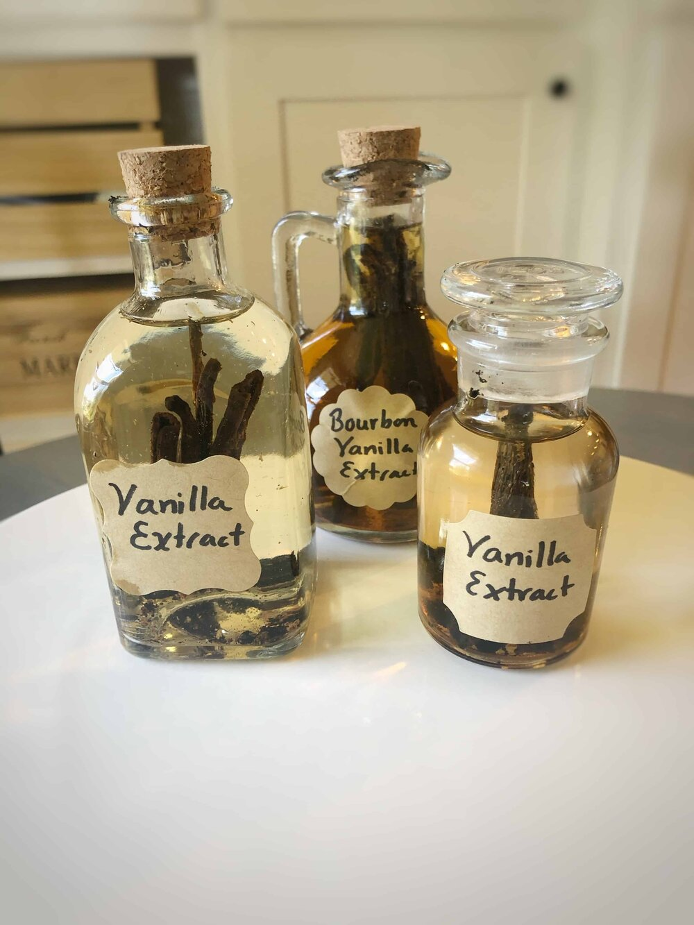 3 bottle of homemade vanilla extract