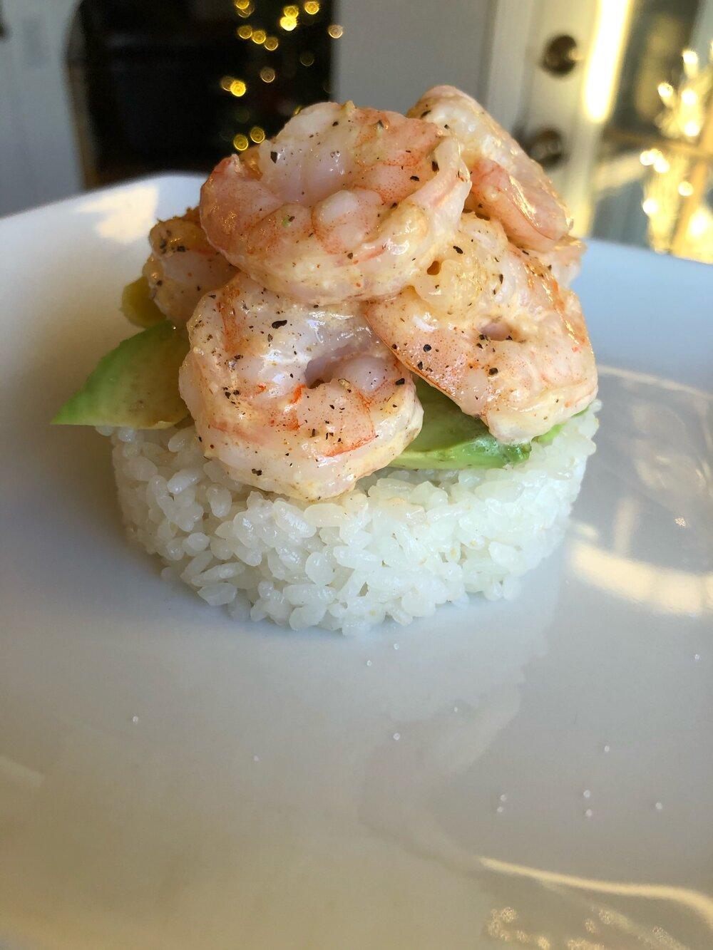 Missouri Girl Sushi Shrimp Stacks