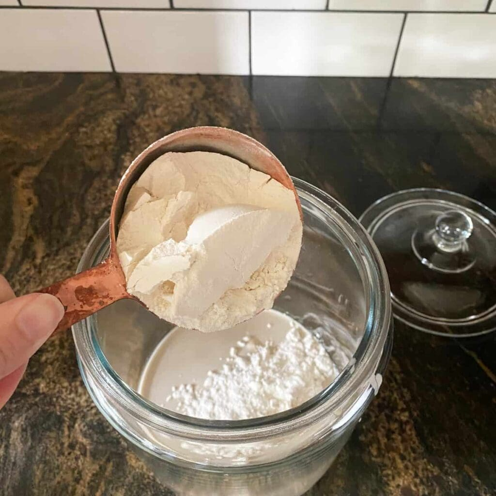 feeding a neglected sourdough starter with unbleached all-purpose flour
